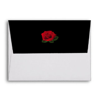 Miss America Red Rose A2 Note Card Envelope