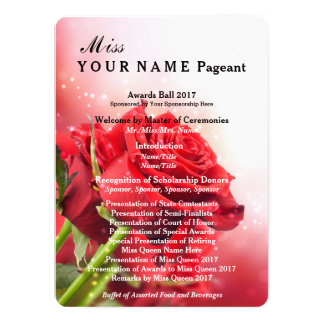 Miss America Red Rose Pageant Awards Ball Program