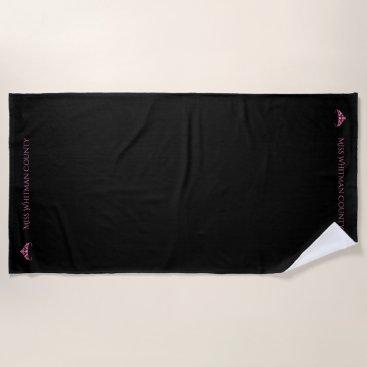 USA Themed Miss America Rodeo Custom Pink  Tiara Beach Towel