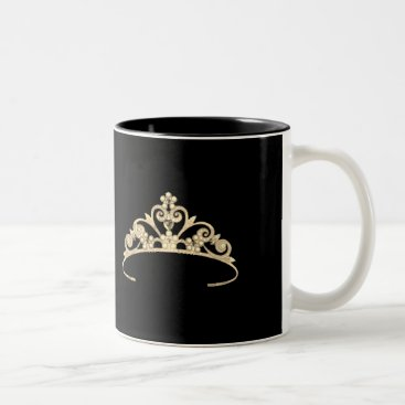 USA Themed Miss America Rodeo style Gold Pageant Crown  Mug