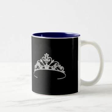 USA Themed Miss America Rodeo style Silver Pageant Crown  Mug