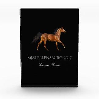Miss America Rodeo USA Horse Acrylic Award