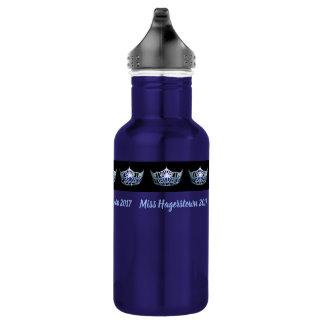 Miss America Silver-Blu Crown Pexagon Water Bottle