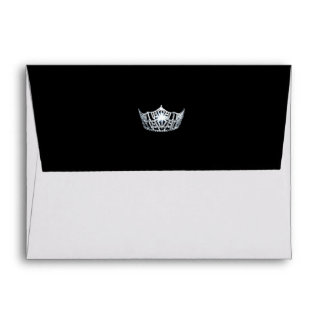 Miss America Silver Crown A2 Note Card Envelope