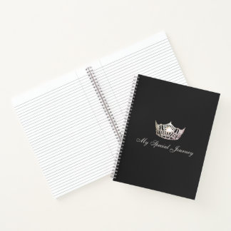 Miss America Silver Crown Custom Journal Notebook