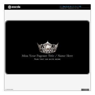 Miss America Silver Crown Custom Name Laptop Skins