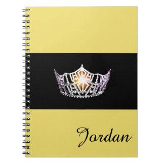 Miss America Silver Crown Notebook Custom Name