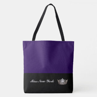 Miss America Silver Crown Tote Bag-LRGE Blackberry