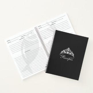 Miss America Silver Tiara Custom Recipe Notebook