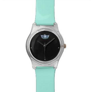 Miss America style Aqua Blue Crown Watch
