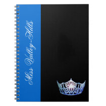 Miss America style Blue Crown Notebook