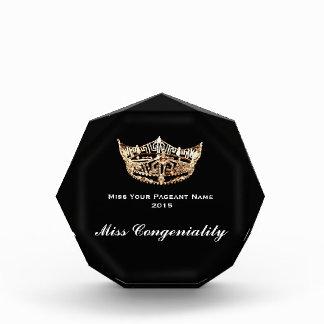 Miss America style Crown Acrylic Award