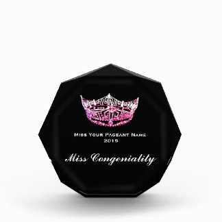 Miss America style Crown Acrylic Award