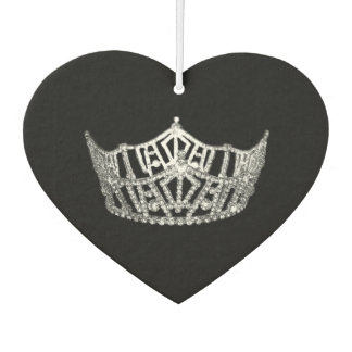 Miss America style Crown Car Air Freshener Black