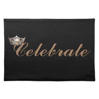 Miss America style Crown Celebrate Placemat Cloth Placemat