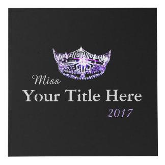 Miss America style Crown Custom Photo Cube