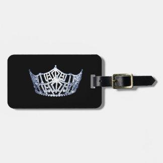 Miss America style Crown Luggage Tag