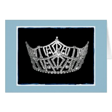 photographybydebbie Miss America style Crown Thank You Card
