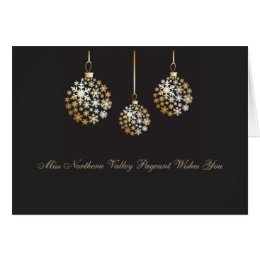 USA Themed Miss America style Custom Christmas Ornament Card