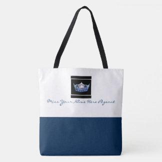 Miss America style Custom Color Crown Tote Tote Bag