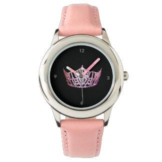 Miss America style Custom Crown Pink Watch