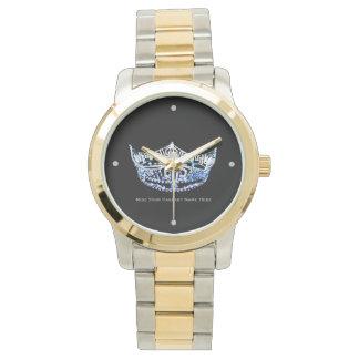 Miss America style Custom Crown Two-Tone Watch