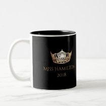 Miss America style Custom Name Gold Crown  Mug