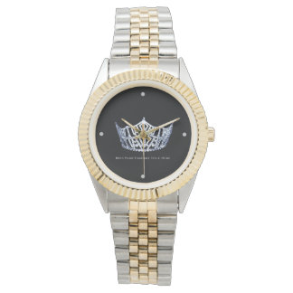 Miss America style Custom Title Two-Tone Watch