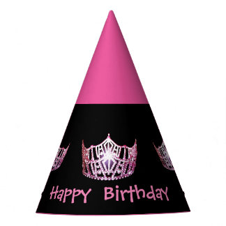 Miss America style Girls Crown Party Hat