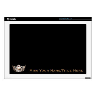 Miss America style Gold Custom Name Laptop Skins