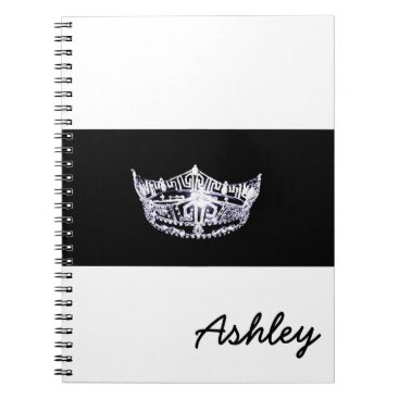 photographybydebbie Miss America style Notebook-Crown & Custom Name Spiral Notebook