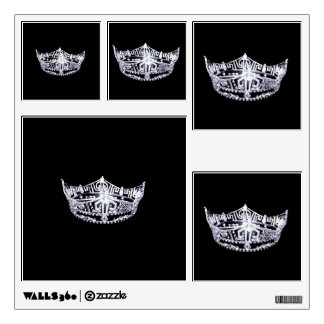 Miss America style Pageant Crown Wall Decals