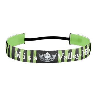 Miss America style Paint Stripe Satin Headband
