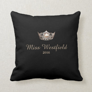 Miss America style Personalized Name Crown Pillow