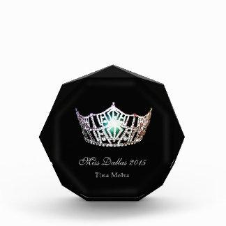 Miss America style Silver Crown Acrylic Award