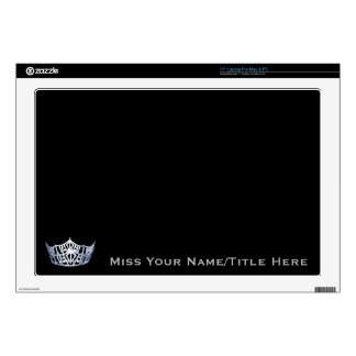 Miss America style Silver Custom Name Laptop Skin