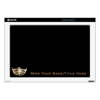 Miss America style Silver Custom Name Laptop Skins