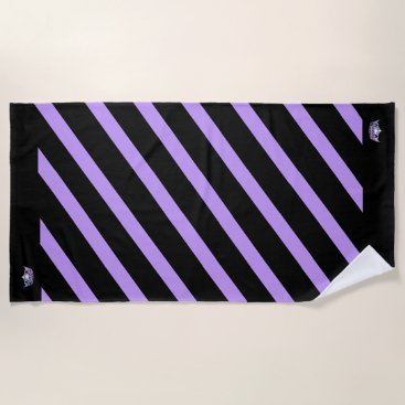 Beach Themed Miss America style Stripe Lilac Crown Beach Towel