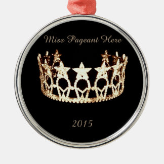 Miss America USA Gold Star Crown Ornament