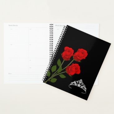 Hawaiian Themed Miss America USA Rodeo Crown & Red Roses Planner