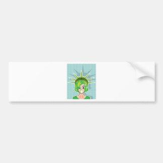 Miss America vector cartoon Bumper Sticker