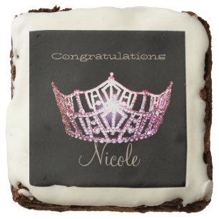 Miss America Veronicas Brownie Treats-Pink Crown