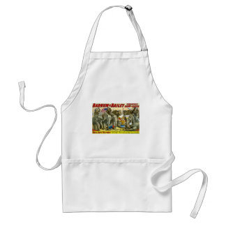 Miss Amy Dupont and War Elephants Vintage Circus Adult Apron