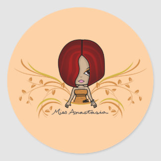 """Miss Anastasia"" Stickers"