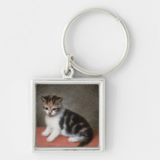 Miss Ann White's Kitten, 1790 Keychain