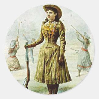 Miss Annie Oakley Classic Round Sticker