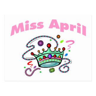 Miss April (2) Postcard