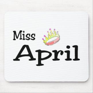 Miss April Mouse Pad
