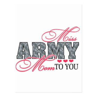 Miss Army Mom Postcard