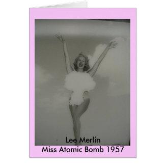 Miss Atomic Bomb 1957 Card